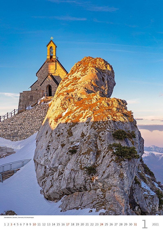 Kalendarz ścienny wieloplanszowy Alps 2021 - styczeń 2021