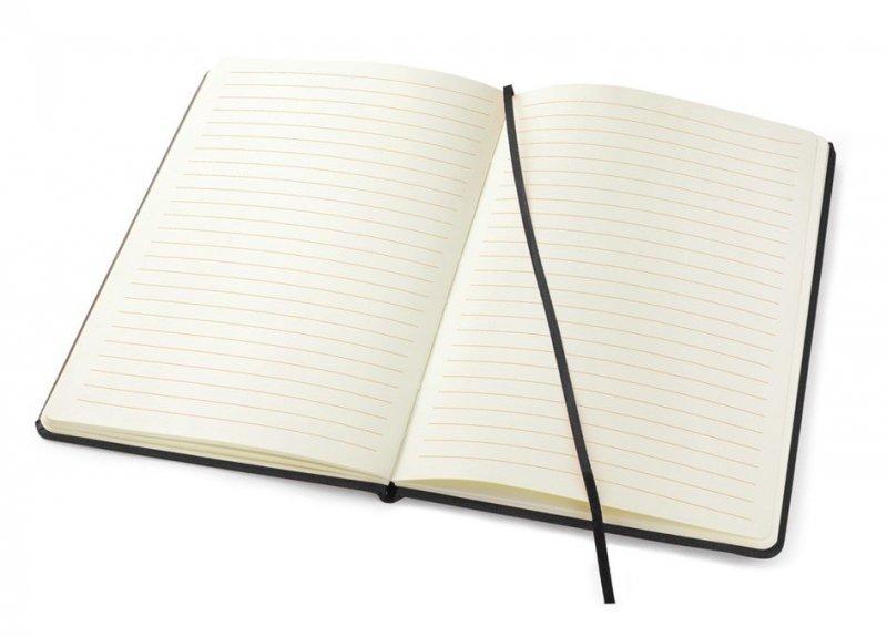 Notes A5 papier chamois w linie - przykładowa kartka z notatnika