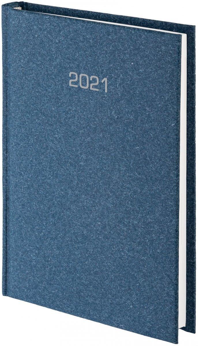 Kalendarz książkowy 2021 B5 tygodniowy oprawa NATURA granatowa