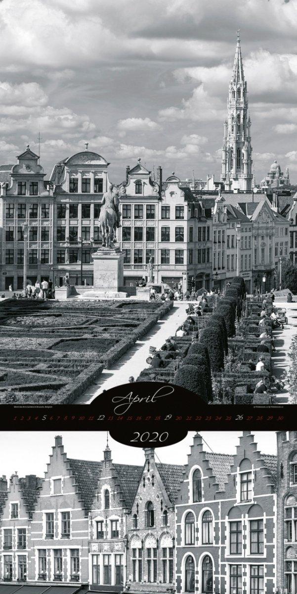 Kalendarz ścienny wieloplanszowy All About Cities 2020 - exclusive edition - kwiecień 2020