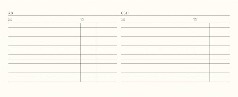 Kalendarium kalendarza biurkowego na rok szkolny 2021/2022 z notesem teleadresowym