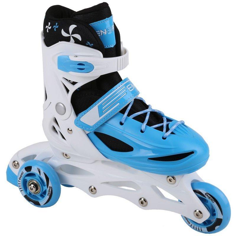 Łyżworolki -3 Skate - Łyżwy -  Wrotki 4W1  34-37 Niebieskie