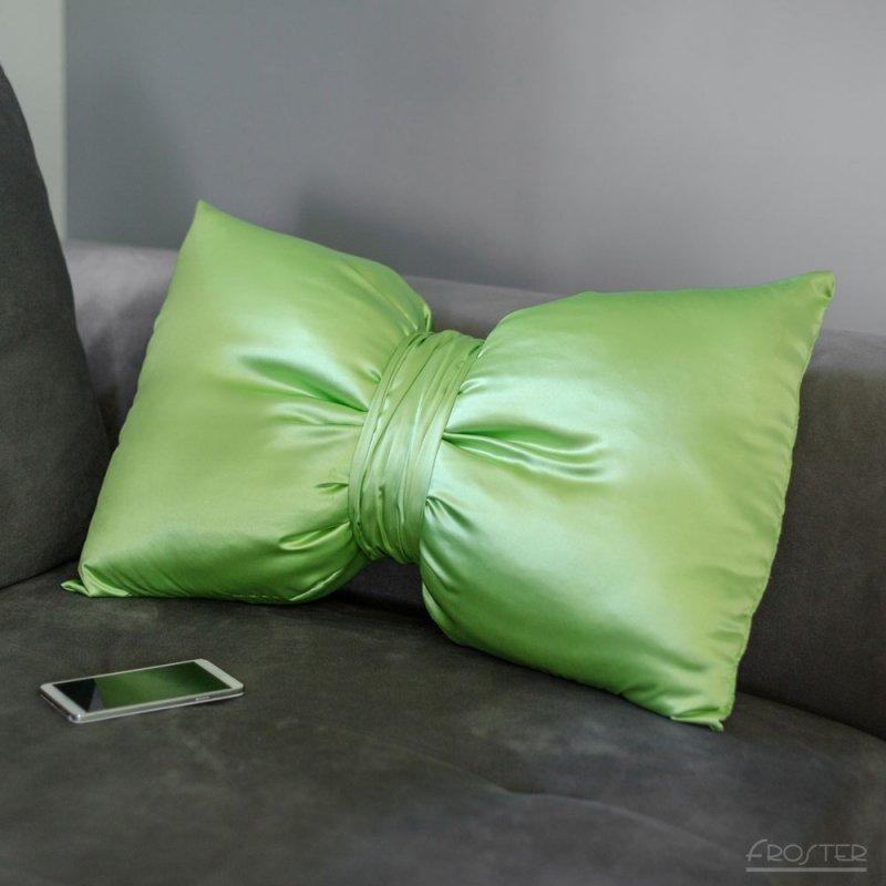 Poduszka Gigantyczna Kokarda - Pistacjowa