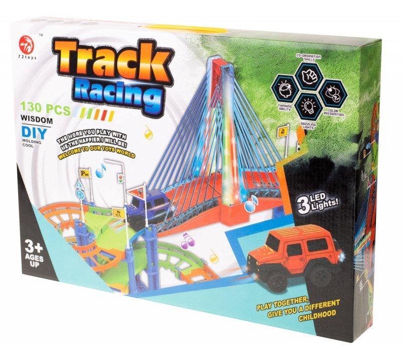 Tor samochodowy Track Racing + samochód 130 el.