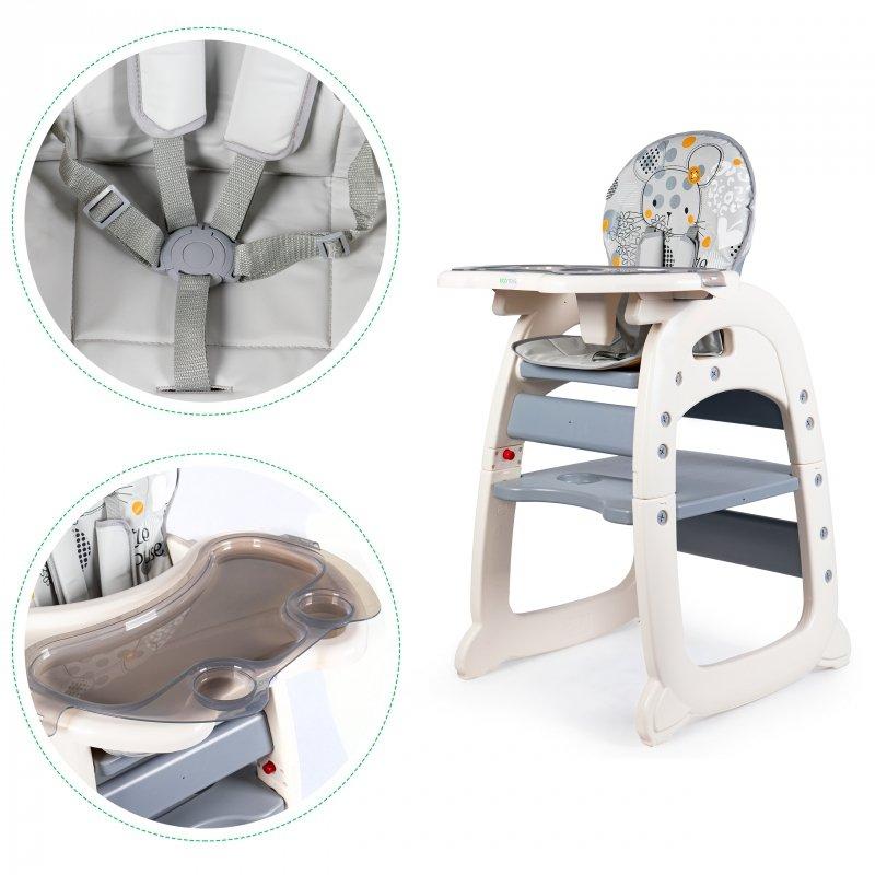 Fotelik do karmienia 2w1 grey ECOTOYS