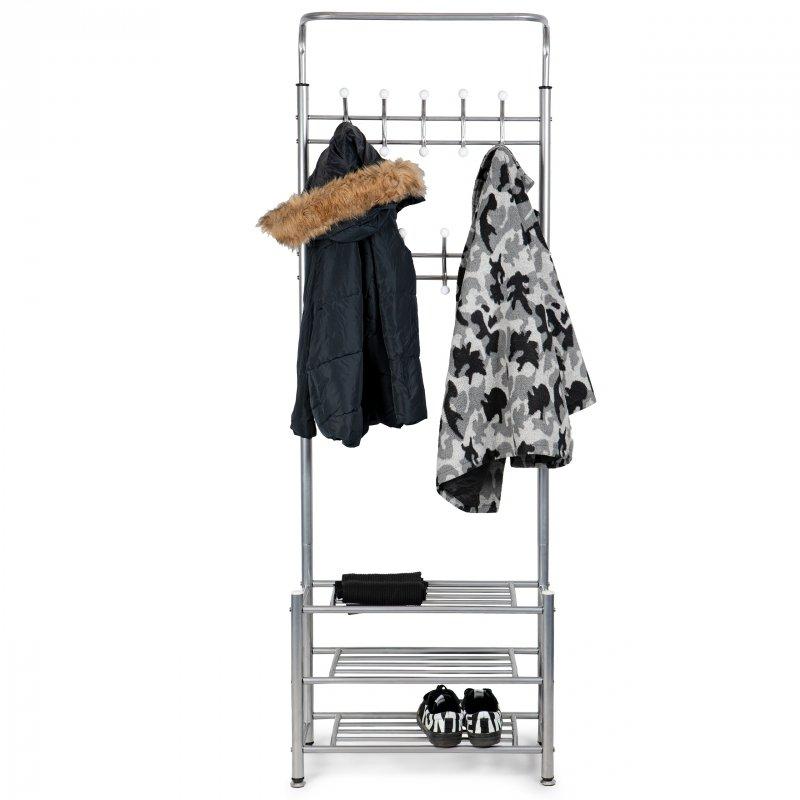 Wieszak na ubrania + szafka regał półka na buty ModernHome
