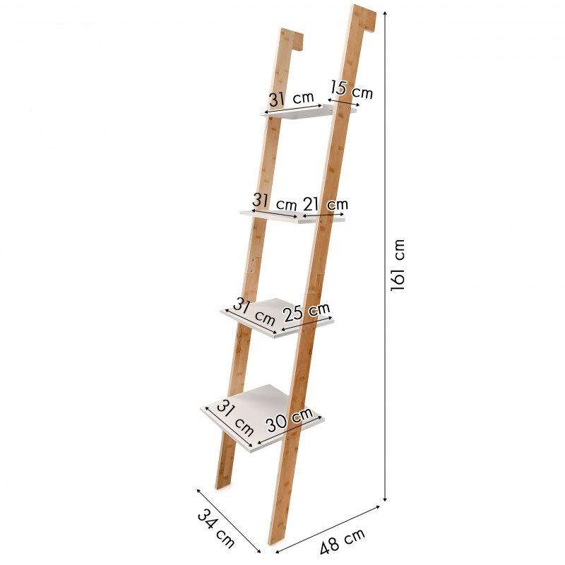 Regał bambusowy drabina