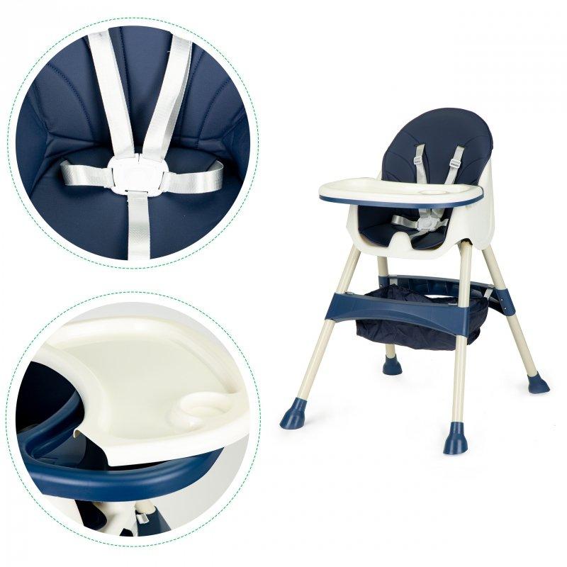 Fotelik krzesełko do karmienia dzieci wysokie 2w1
