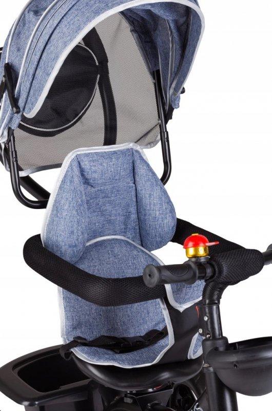 Rowerek trójkołowy z obracanym siedzeniem Niebieski