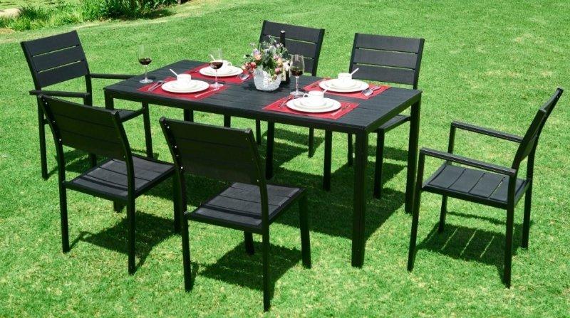 Stół ogrodowy cateringowy 156 x 78cm Czarny