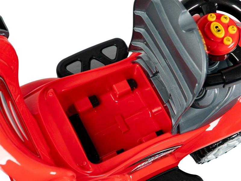 Jeździk, chodzik, pchacz  3w1 deluxe z panelem muzycznym czerwony