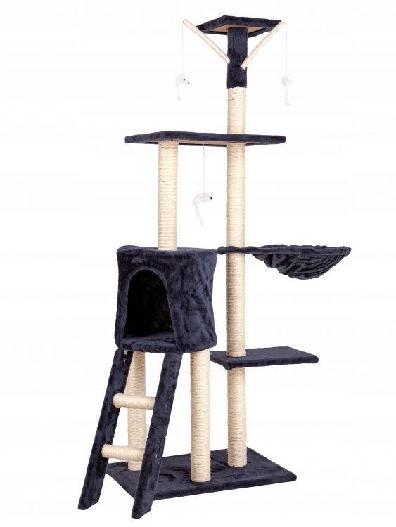 Drapak dla kota domek drzewo legowisko 138cm xl Szary