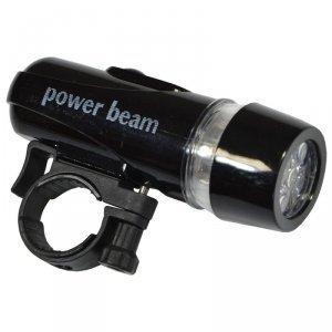 Lampka rowerowa Power Beam zestaw czarna