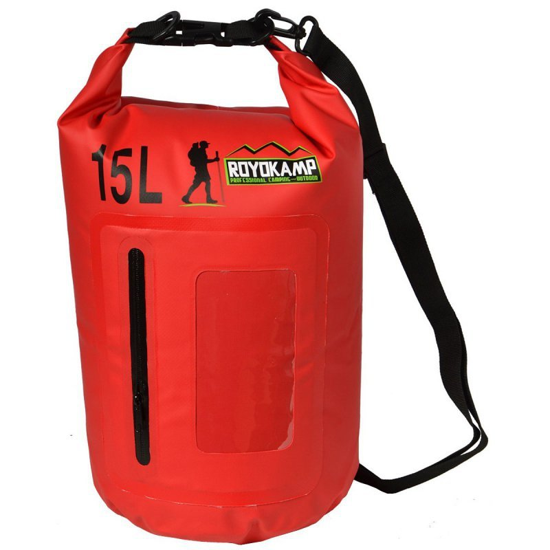 Wodoszczelna torba 15l z etui na telefon worek wodoodporny