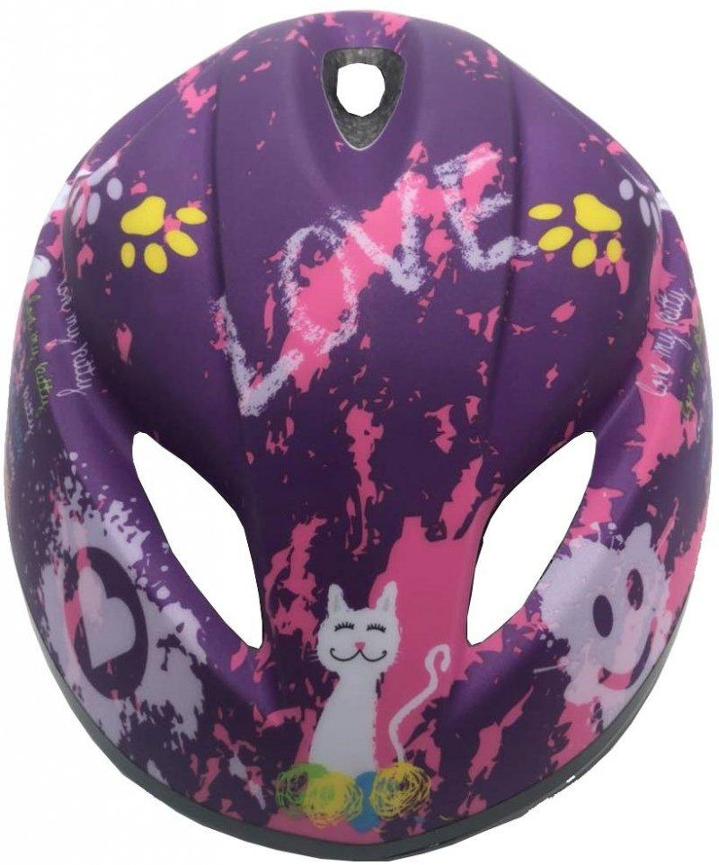 Kask Rowerowy Dziecięcy Love Kitty R.S 47-49Cm