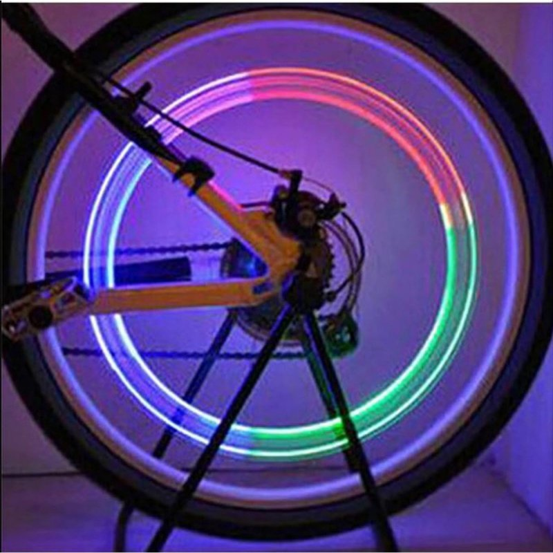 Lampki rowerowe na wentyle 2szt. multikolor