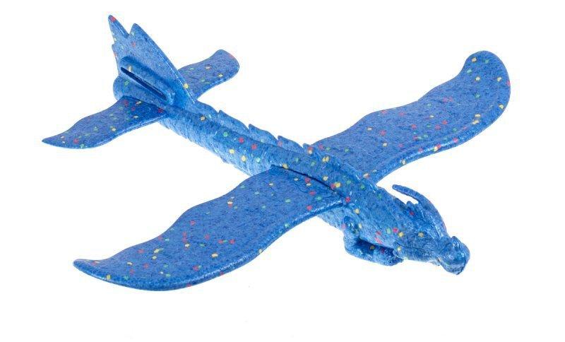 Szybowiec samolot styropianowy smok niebieski
