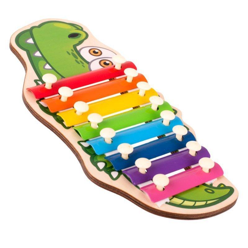Cymbałki drewniane dla dzieci krokodyl