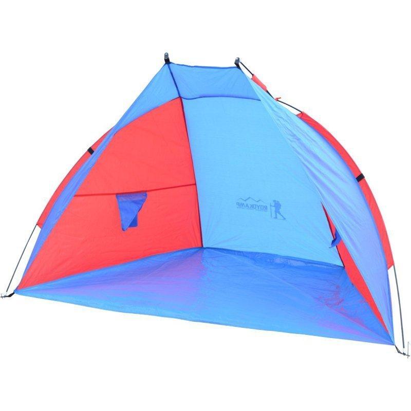 Namiot Osłona Plażowa Sun 200X120X120Cm Niebiesko-Czerwona