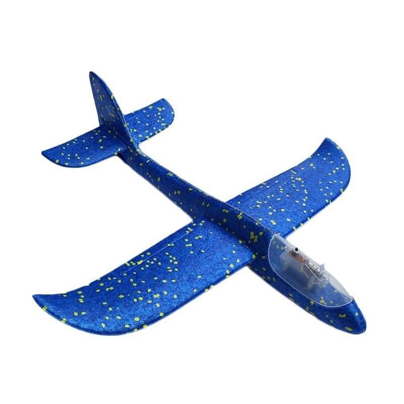 Szybowiec-Samolot-Styropianowy-8LED-niebieski-48x47cm