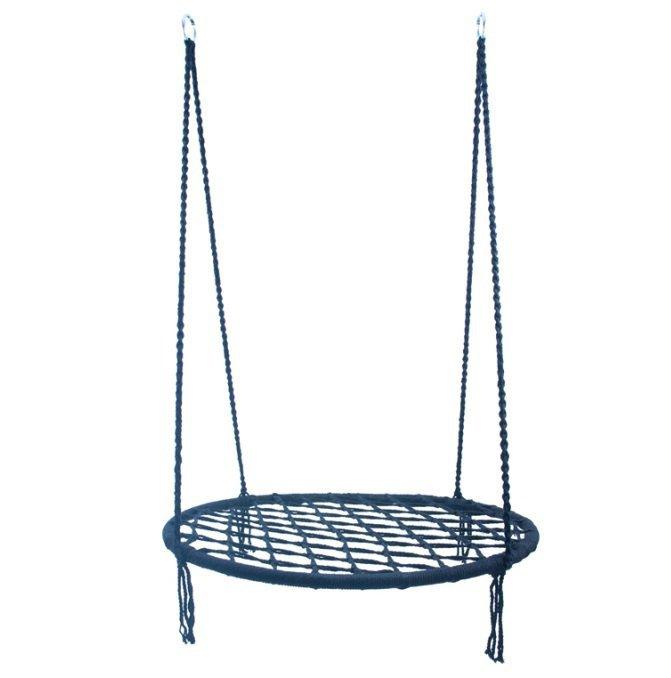 Bocianie Gniazdo huśtawka niebieskie 60 cm