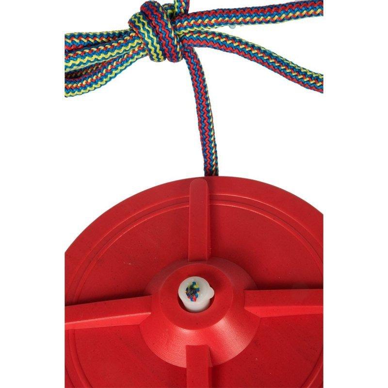 Huśtawka-ogrodowa-koło-plastikowa-czerwona-4