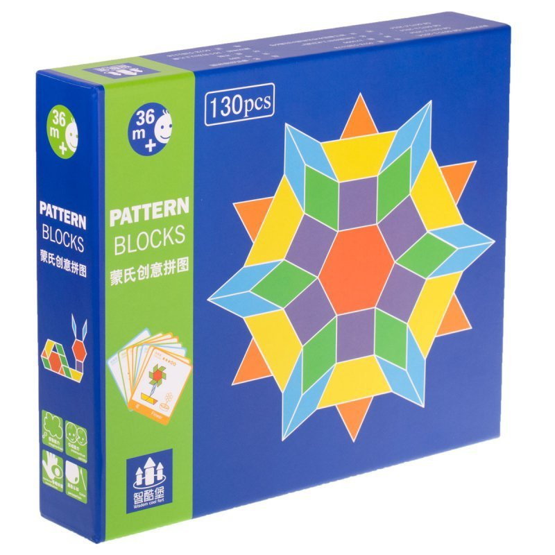 Puzzle drewniane układanka Montessori 155 el. klocki