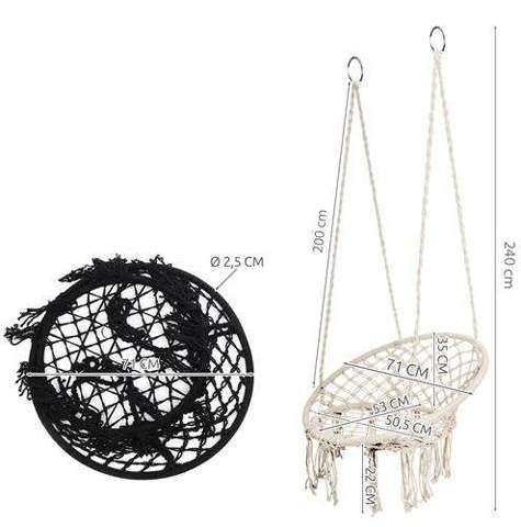 Huśtawka bocianie gniazdo beżowa 2m z poduszką
