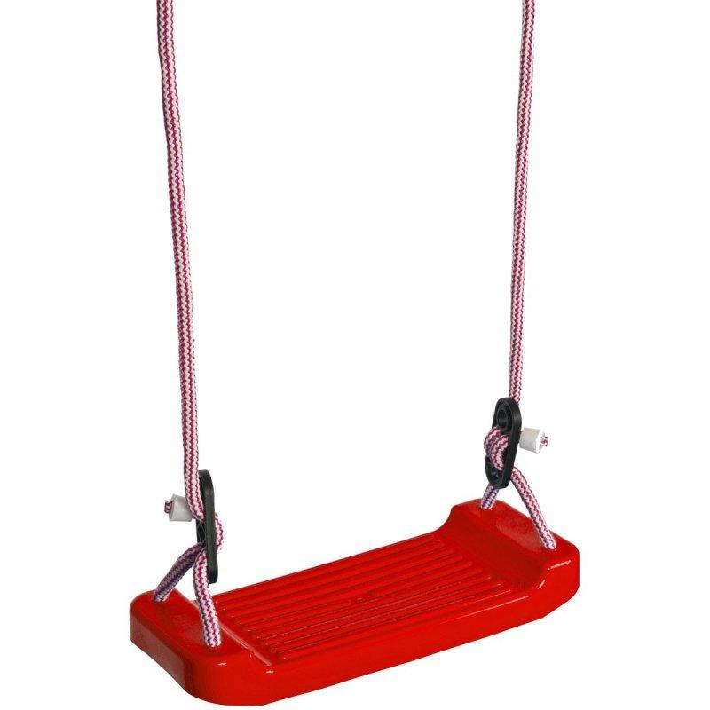 Huśtawka-ogrodowa-deska-plastikowa-czerwona