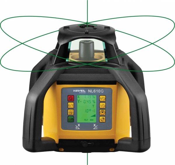Nivel System NL610G Digital znakomity dwuspadkowy niwelator laserowy z łatą i statywem korbowym