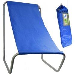 Leżak ogrodowo plażowy składany z torbą Royokamp niebieski