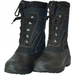 Buty śniegowce męskie czarne wiązane