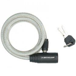 Zapięcie rowerowe Dunlop spiralne na klucz 0,8x150cm 4 kolory
