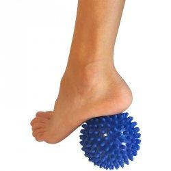 Piłeczka z kolcami do masażu 9 cm niebieska EB FIT