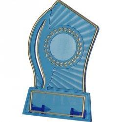 Trofeum Plastikowe - Przezroczysto - Złote Z Miejscem Na Wklejkę 25Mm I Tabliczkę 47Mmx14Mm T-M