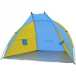 Namiot Osłona Plażowa Sun 200X100X105Cm Błękitno-Żółta Royokamp