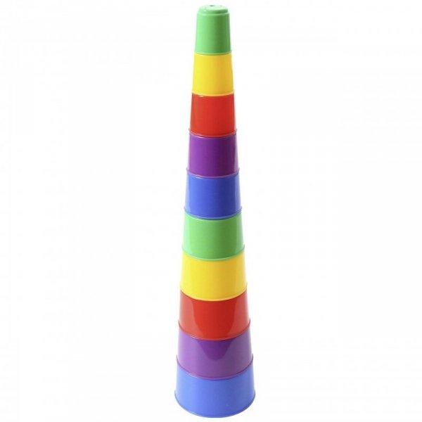 Wieża Piramidka Układanka Edukacyjna (10 Kubeczków)