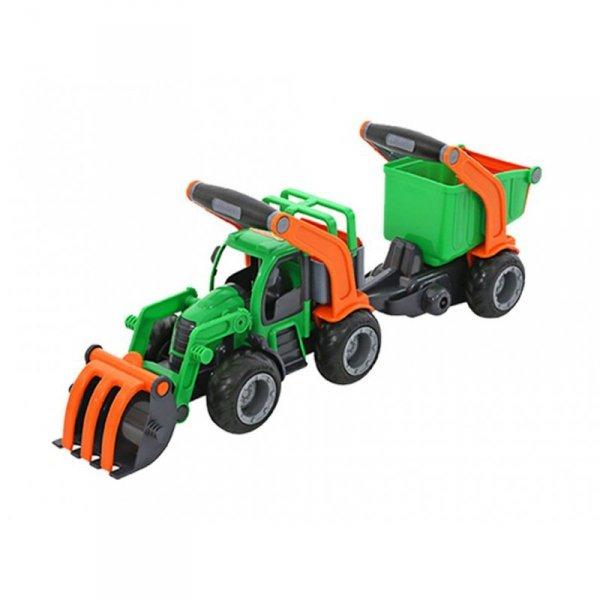 Wader QT Traktor z Przyczepą Łyżka + Wywrotka