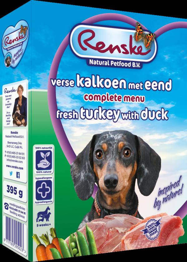 Renske Dog Adult fresh meat turkey and duck – świeże mięso indyk i kaczka dla psów 395g