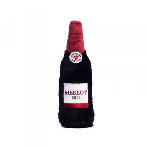 ZippyPaws Plusz MERLOT zabawka na butelkę