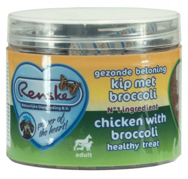 Renske Dog Healthy Mini Treat Chicken with broccoli - zdrowy mini przysmak dla psów małych ras - kurczak z brokułami 100 g