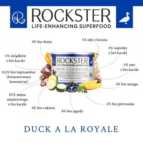 Rockster Duck a la Royale - BIO kaczka - 195g