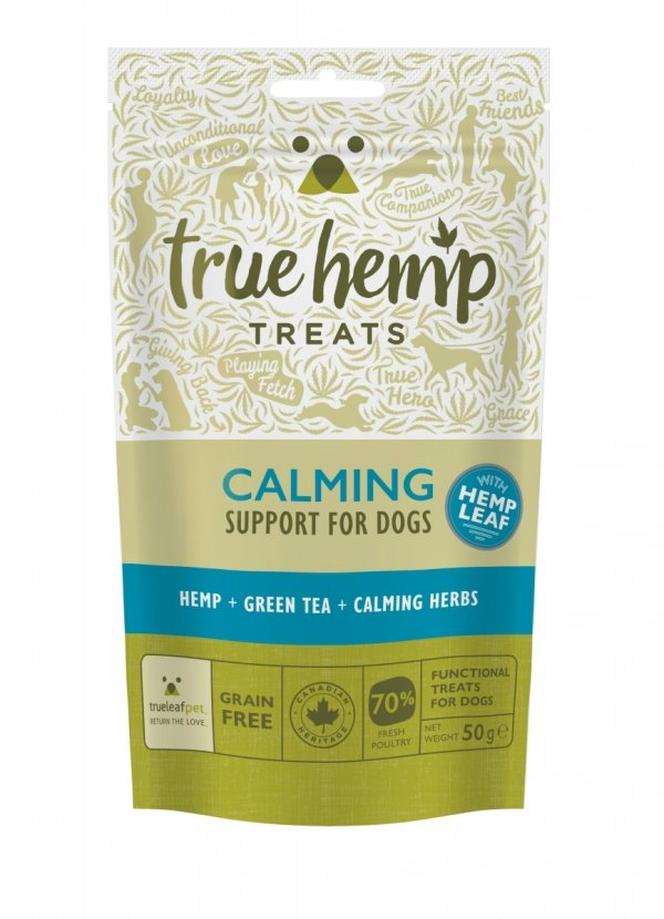 TRUE HEMP Przysmaki dla psa z konopiami 50G - uspokajające