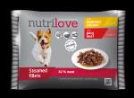 Nutrilove Dog 11450 saszetki 4x85g kura wołowina