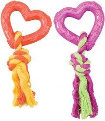 Ethical 54019-0 Zabawka Gumowe serce ze sznurkiem