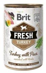 Brit Fresh 3879 Puszka 400g Turkey & Peas