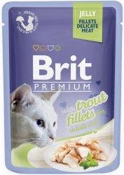 Brit 8494 Premium Cat 85g Pstrąg galaretka sasz
