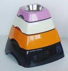 Miska z melaminy DB-02-M roz.M kwadratowa pomarańc