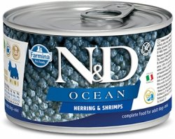 ND Dog 2215 Adult Mini 140g Ocean Herring Shrimp