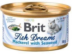 Brit Cat Fish Dreams Mackerel&Seaweed 80g